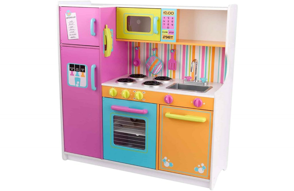0849b5ff248b It is a bright multicolor play kitchen kit! This kids play kitchen has  everything your kid needs for a fun imaginative kitchen game.